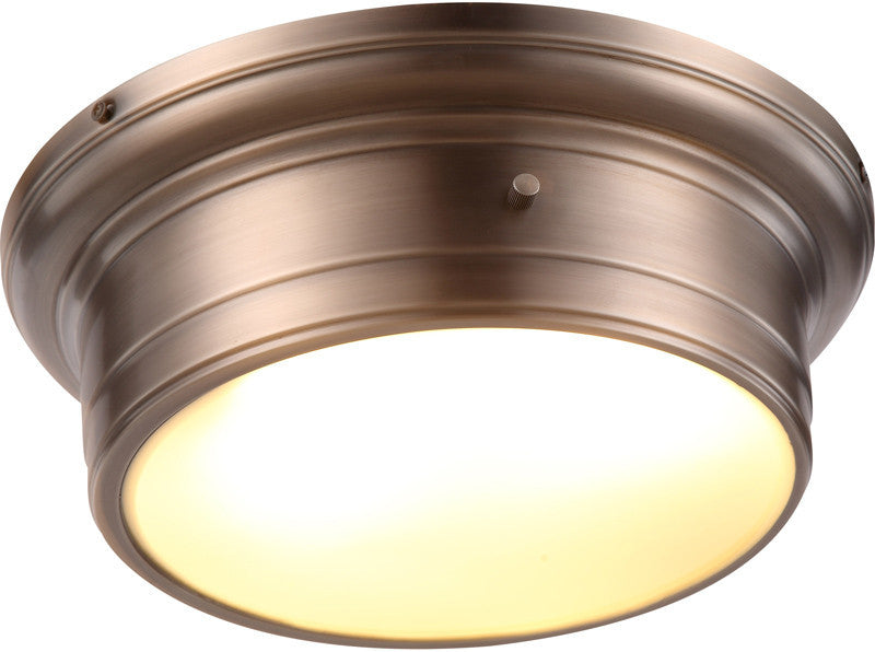 C121-1428F14VN By Elegant Lighting - Sansa Collection Vintage Nickel Finish 2 Lights Flush Mount