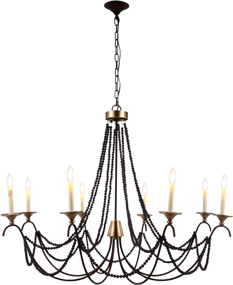 C121-1429G44RG By Elegant Lighting - Georgia Collection Gold Finish 8 Lights Pendant Lamp