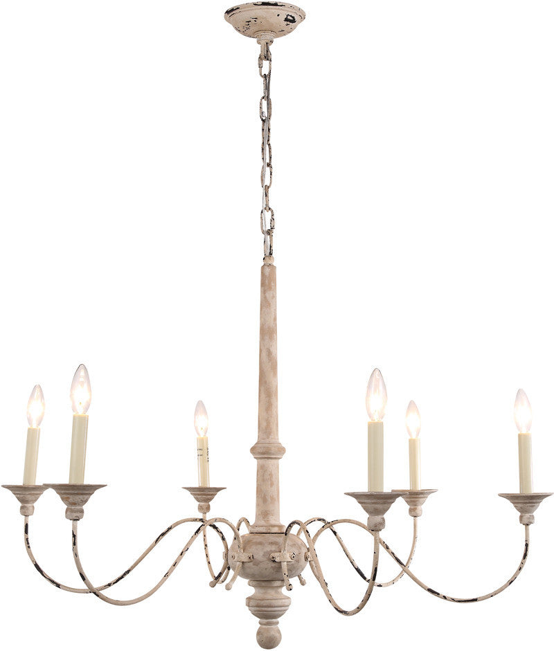 C121-1430G36GP By Elegant Lighting - Lisbon Collection Gold Patina Finish 6 Lights Pendant Lamp