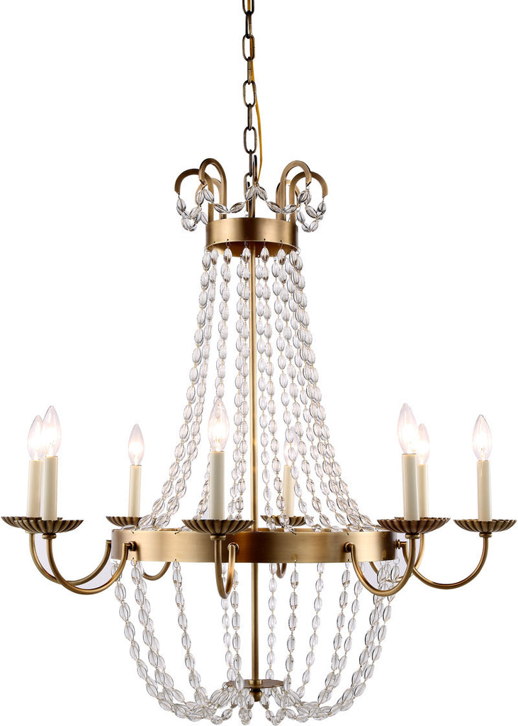 C121-1433D32BB By Elegant Lighting - Roma Collection Burnished Brass Finish 8 Lights Pendant Lamp