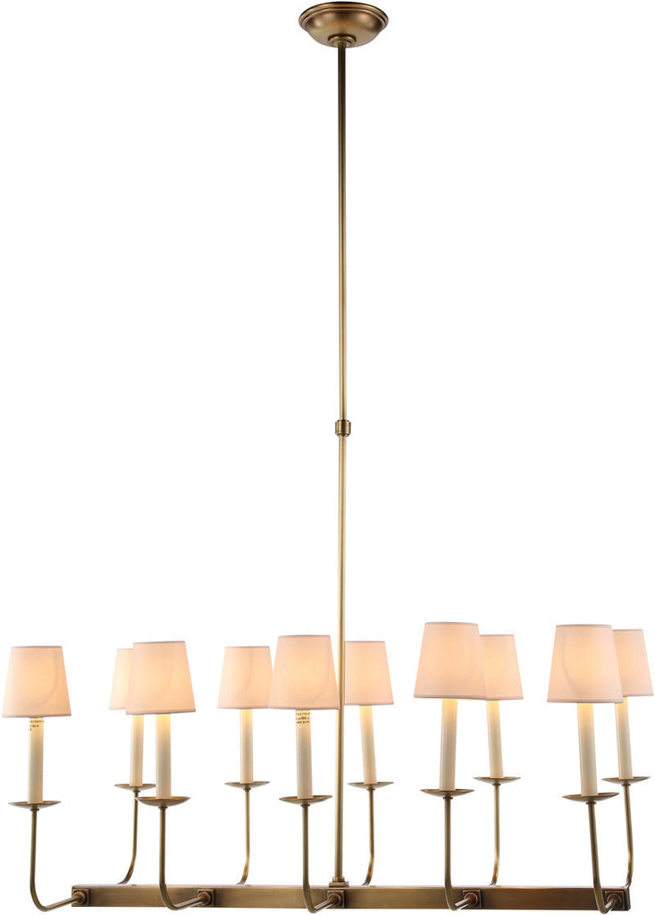 C121-1435D35BB By Elegant Lighting - Penelope Collection Burnished Brass Finish 10 Lights Pendant Lamp