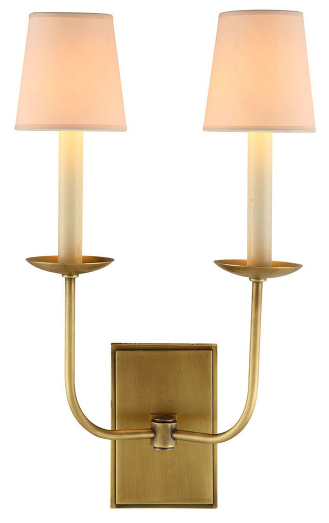 C121-1435W10BB By Elegant Lighting - Penelope Collection Burnished Brass Finish 2 Lights Wall Sconce