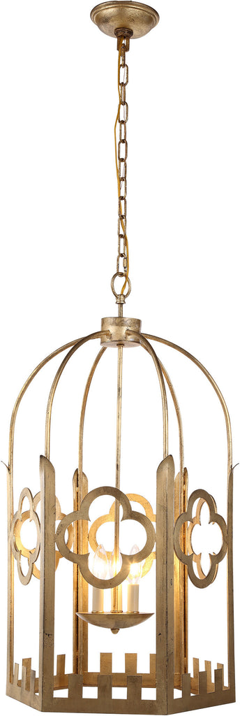 C121-1440D23GI By Elegant Lighting - Chalice Collection Golden Iron Finish 4 Lights Pendant Lamp