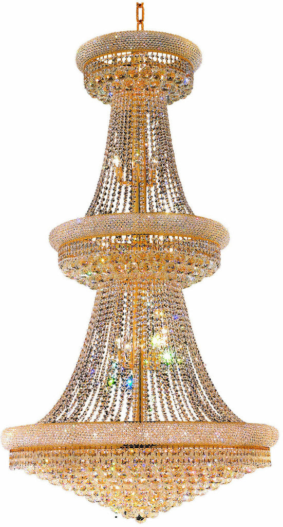 ZC121-V1800G42G/EC By Elegant Lighting - Primo Collection Gold Finish 38 Lights Foyer/Hallway