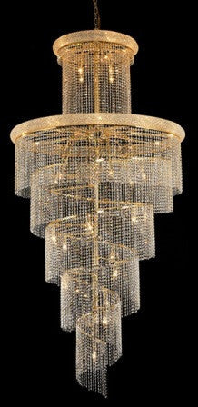 ZC121-V1800SR48G By Regency Lighting-Spiral Collection Gold Finish 41 Lights Chandelier