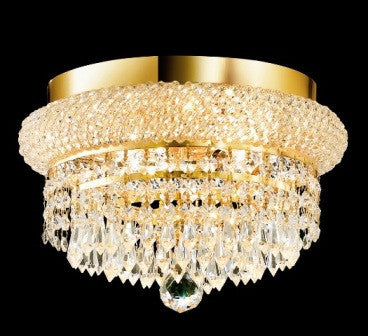 C121-1802F12G By Regency Lighting-Primo Collection Gold Finish 4 Lights Flush
