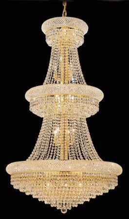C121-1802G30G By Regency Lighting-Primo Collection Gold Finish 32 Lights Chandelier