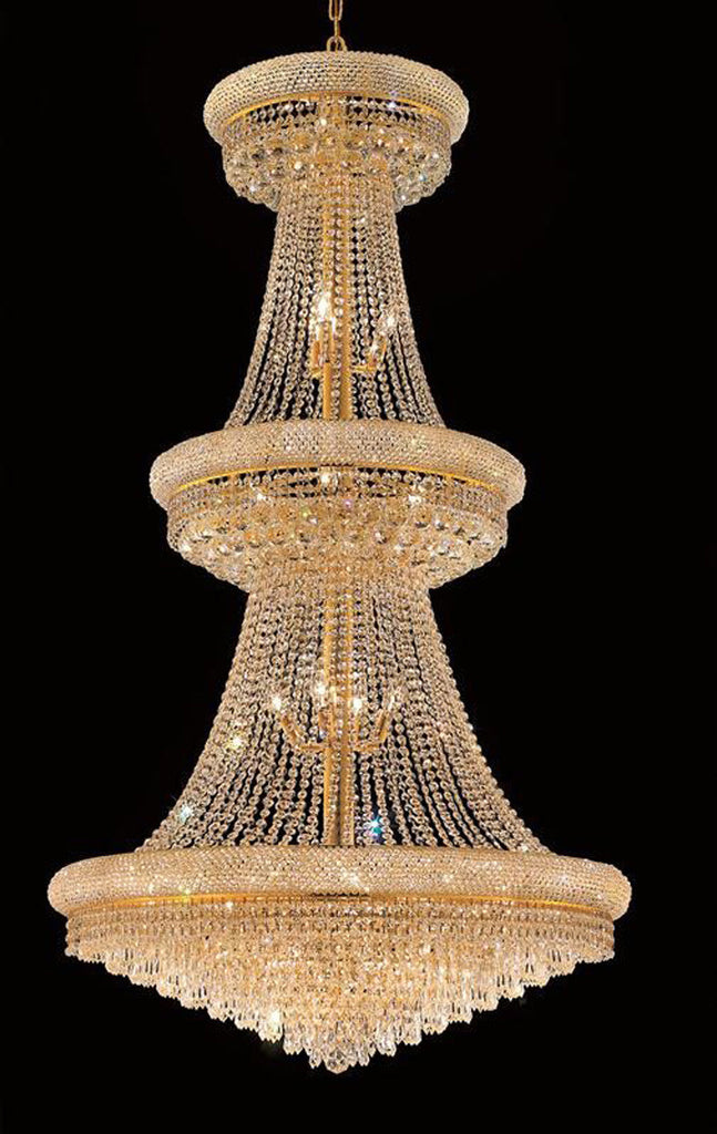 ZC121-1802G36G/EC By Regency Lighting - Primo Collection Gold Finish 32 Lights Foyer/Hallway