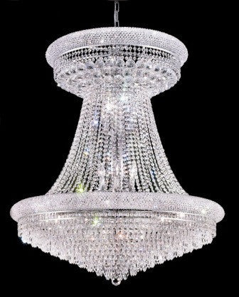 C121-1802G36SC By Regency Lighting-Primo Collection Chrome Finish 28 Lights Chandelier
