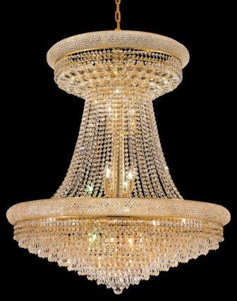 C121-1802G36SG By Regency Lighting-Primo Collection Gold Finish 28 Lights Chandelier