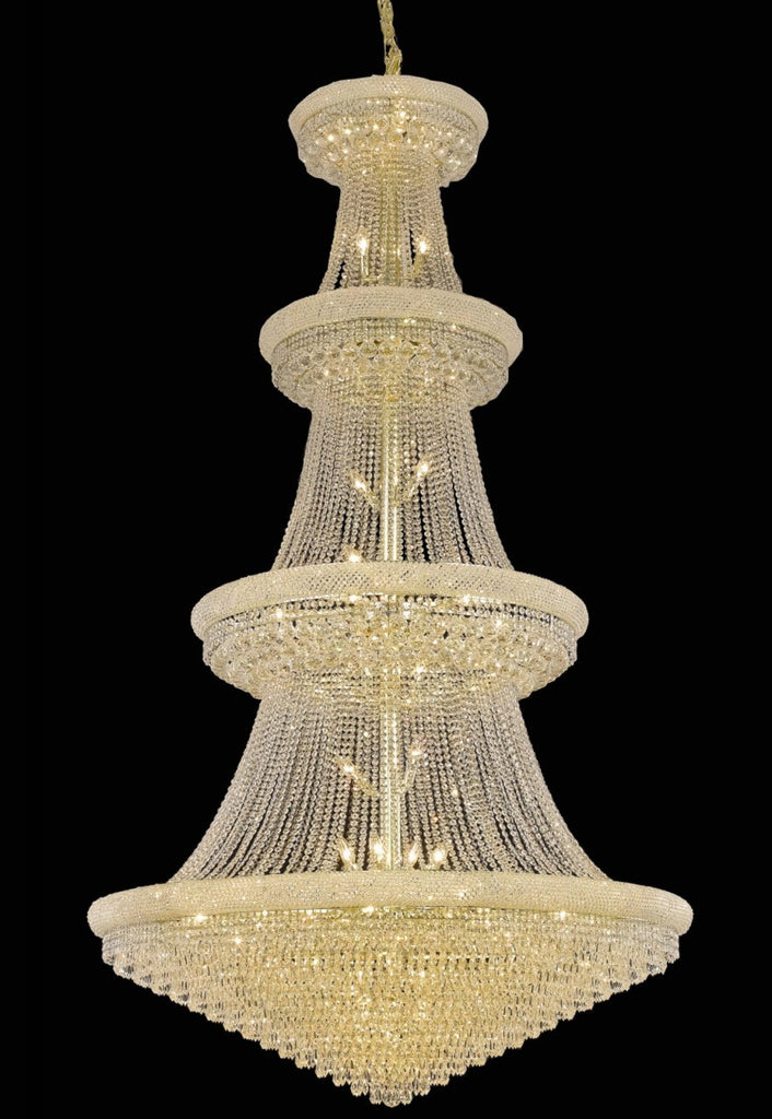 C121-1802G54G/RC By Elegant Lighting Primo Collection 48 Light Chandeliers Gold Finish
