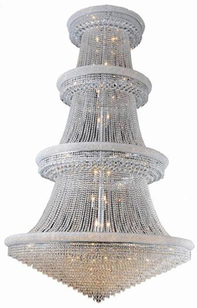C121-1802G62C/EC By Elegant Lighting - Primo Collection Chrome Finish 56 Lights Foyer/Hallway
