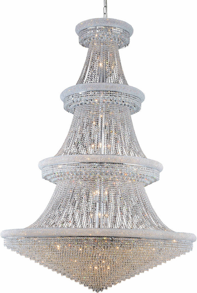 C121-1802G72C/EC By Elegant Lighting - Primo Collection Chrome Finish 66 Lights Foyer/Hallway