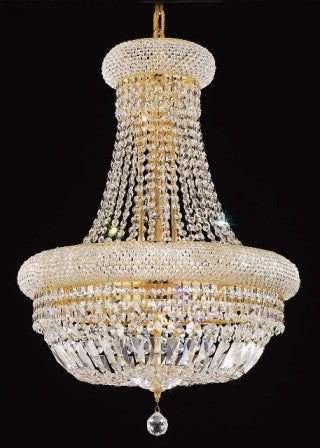 C121-1803D20G By Regency Lighting-Primo Collection Gold Finish 14 Lights Chandelier