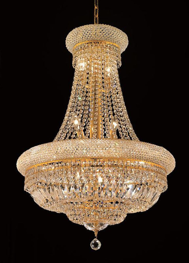ZC121-1803D24G/EC By Regency Lighting - Primo Collection Gold Finish 14 Lights Dining Room