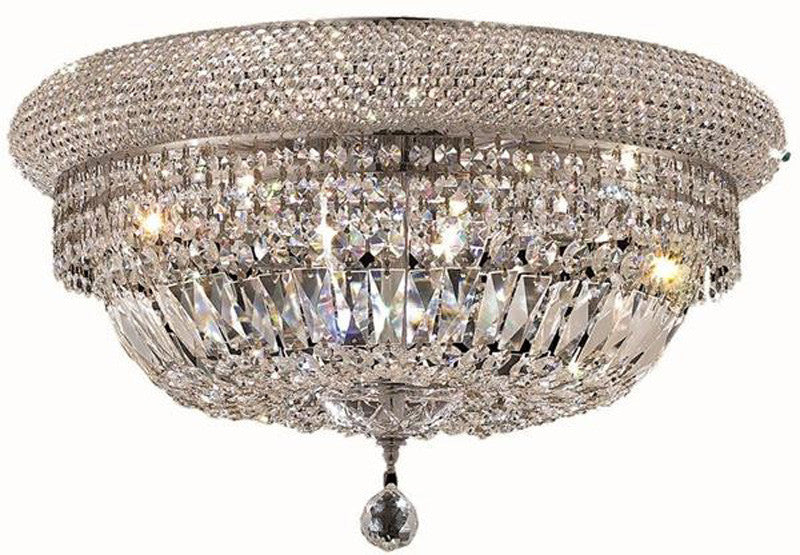 ZC121-1803F24C/EC By Regency Lighting - Primo Collection Chrome Finish 12 Lights Flush Mount