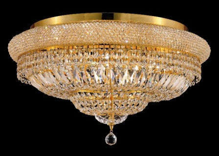 C121-1803F28G By Regency Lighting-Primo Collection Gold Finish 15 Lights Flush