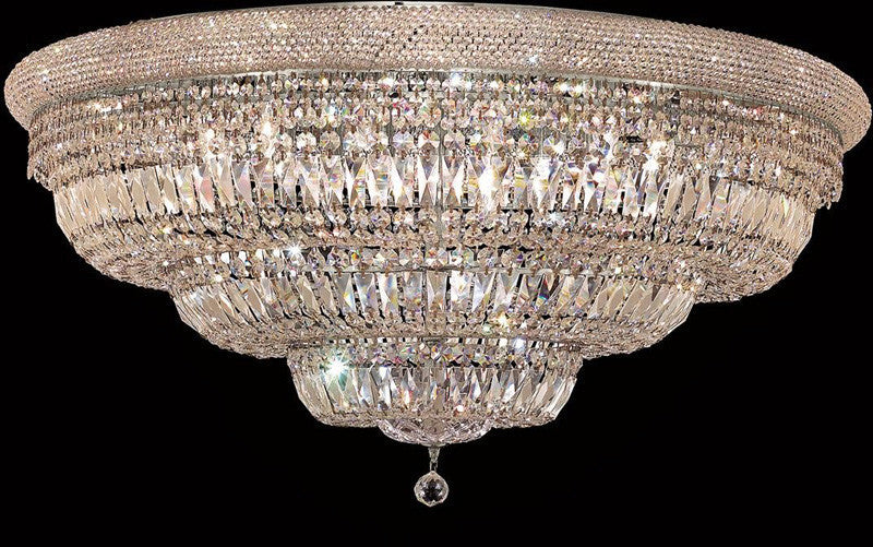 ZC121-1803F42C/EC By Regency Lighting - Primo Collection Chrome Finish 30 Lights Flush Mount