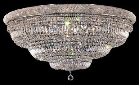 C121-1803F48C By Regency Lighting-Primo Collection Chrome Finish 33 Lights Flush