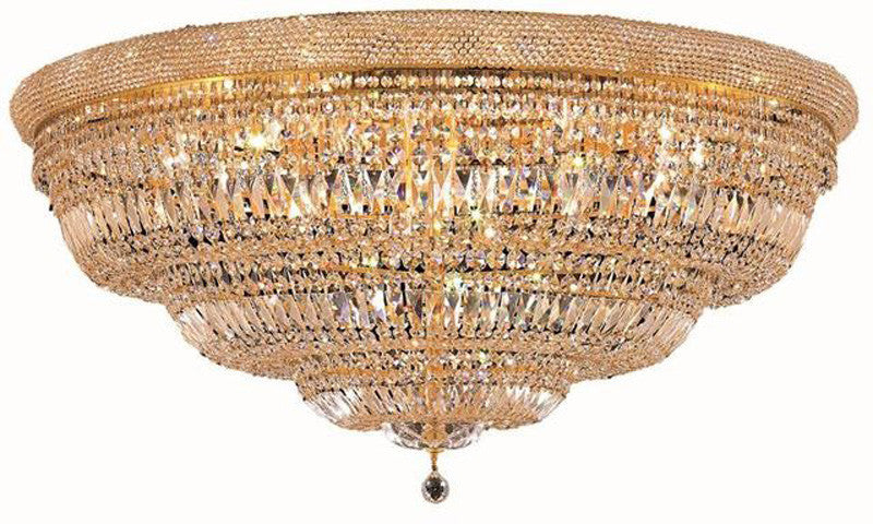 ZC121-1803F48G/EC By Regency Lighting - Primo Collection Gold Finish 33 Lights Flush Mount