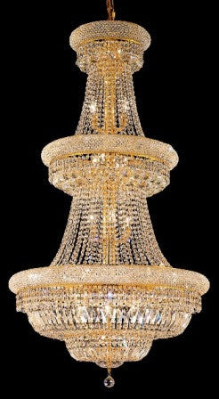 C121-1803G30G By Regency Lighting-Primo Collection Gold Finish 32 Lights Chandelier