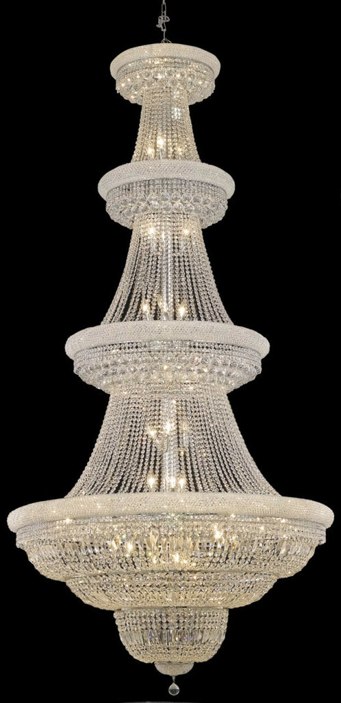 C121-1803G48C/RC By Elegant Lighting Primo Collection 42 Light Chandeliers Chrome Finish