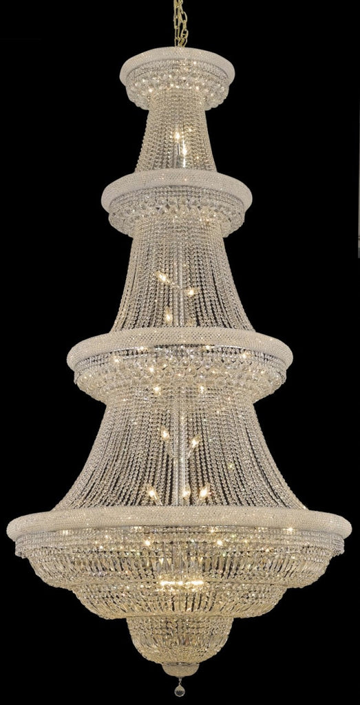 C121-1803G54C/RC By Elegant Lighting Primo Collection 48 Light Chandeliers Chrome Finish