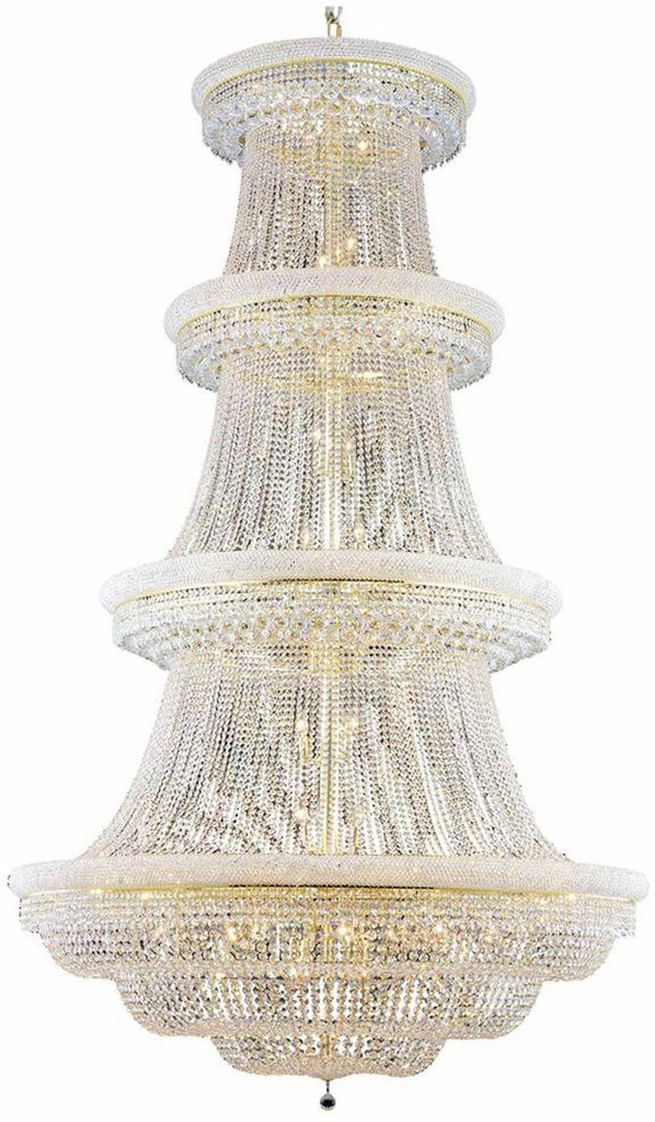C121-1803G62G/EC By Elegant Lighting - Primo Collection Gold Finish 56 Lights Foyer/Hallway