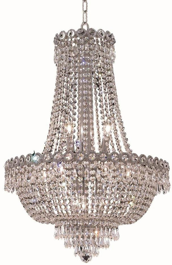 ZC121-V1900D20C/RC By Elegant Lighting Century Collection 12 Light Dining Room Chrome Finish
