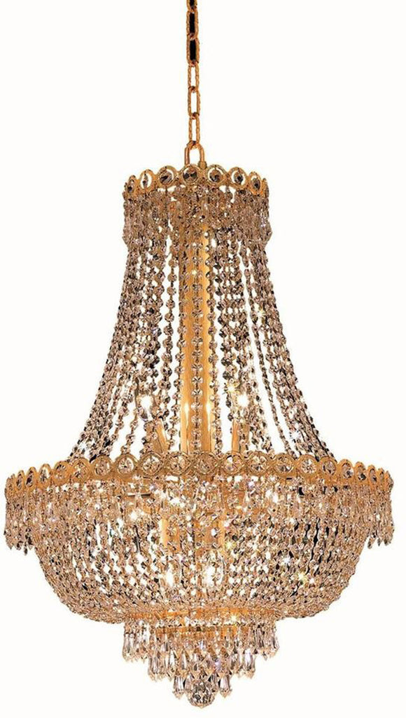 ZC121-V1900D20G/EC By Elegant Lighting - Century Collection Gold Finish 12 Lights Dining Room
