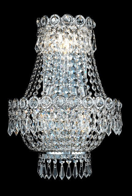 ZC121-V1900W12SC/EC By Elegant Lighting Century Collection 3 Light Chandeliers Chrome Finish
