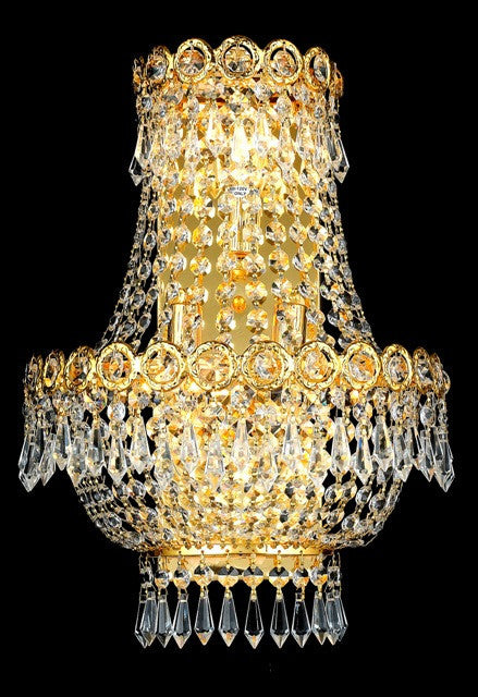 ZC121-V1900W12SG/EC By Elegant Lighting Century Collection 3 Light Chandeliers Gold Finish