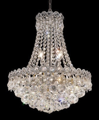 C121-1901D16C By Regency Lighting-Century Collection Chrome Finish 8 Lights Chandelier