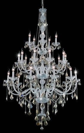 C121-7825G43C-GT By Regency Lighting-Verona Collection Chrome Finish 25 Lights Chandelier