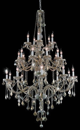 C121-7825G43GT-GT By Regency Lighting-Verona Collection Golden Teak Finish 25 Lights Chandelier