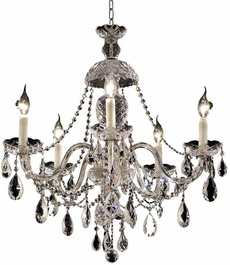 ZC121-7829D25C/EC By Regency Lighting - Alexandria Collection Chrome Finish 5 Lights Dining Room