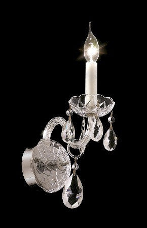 C121-7829W1C By Regency Lighting-Alexandria Collection Chrome Finish 1 Light Wall Sconce