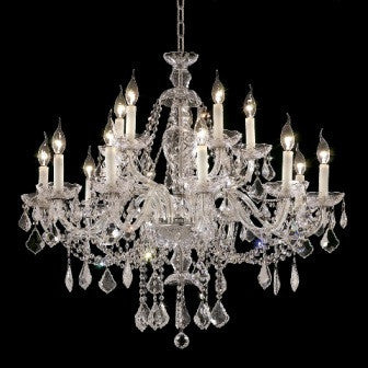 C121-7831G35C By Regency Lighting-Alexandria Collection Chrome Finish 15 Lights Chandelier