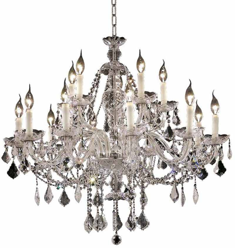 ZC121-7831G35C/EC By Regency Lighting - Alexandria Collection Chrome Finish 15 Lights Foyer/Hallway