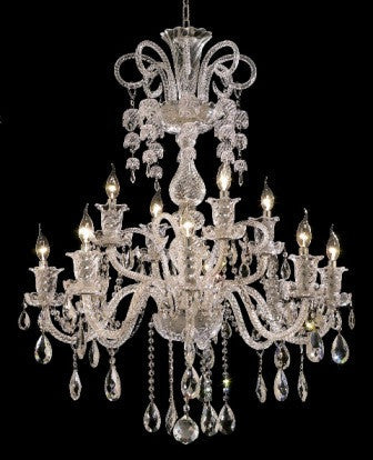 C121-7832G33C By Regency Lighting-Elizabeth Collection Chrome Finish 12 Lights Chandelier