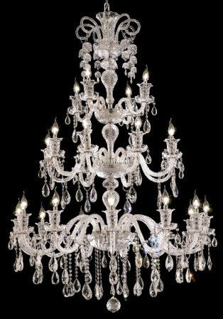 C121-7832G44C By Regency Lighting-Elizabeth Collection Chrome Finish 24 Lights Chandelier