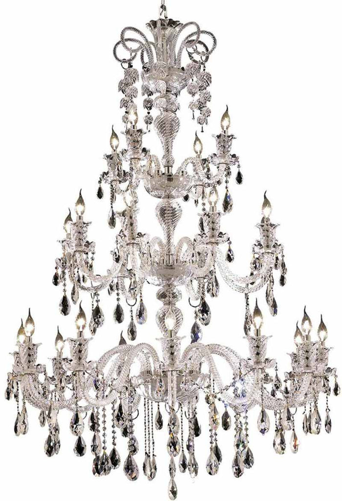 ZC121-7832G44C/EC By Regency Lighting - Elizabeth Collection Chrome Finish 24 Lights Foyer/Hallway