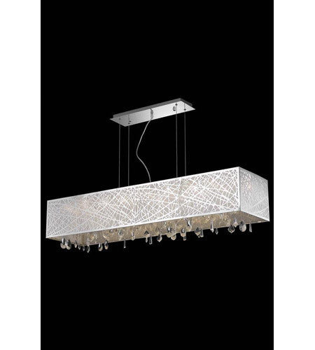 C121-7901D48C/RC By Elegant Lighting Mirage Collection 8 Light Dining Room Chrome Finish
