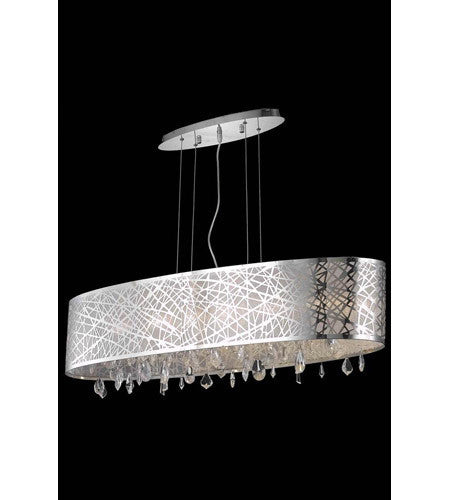 C121-7902D49C/RC By Elegant Lighting Mirage Collection 8 Light Dining Room Chrome Finish