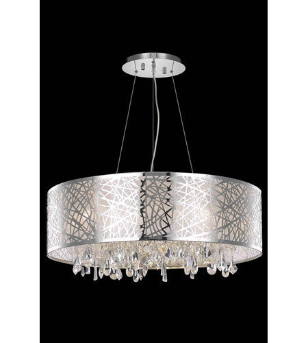 C121-7903D30C/RC By Elegant Lighting Mirage Collection 9 Light Dining Room Chrome Finish