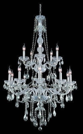 C121-7915G33C By Regency Lighting-Verona Collection Chrome Finish 15 Lights Chandelier