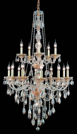 C121-7915G33GS-GS By Regency Lighting-Verona Collection Chrome Finish 15 Lights Chandelier