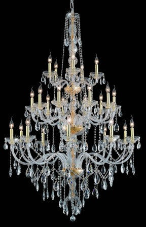 C121-7925G43G By Regency Lighting-Verona Collection Gold Finish 25 Lights Chandelier