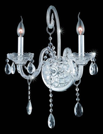 C121-7952W2C By Regency Lighting-Verona Collection Chrome Finish 2 Lights Wall Sconce