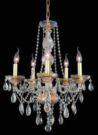 C121-7955D21GS-GS By Regency Lighting-Verona Collection Golden Shadow Finish 5 Lights Chandelier